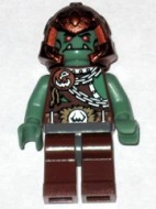 cas400G Troll warrior met koperen helm gebruikt loc