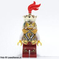 cas441 Ridders: Leeuwenkoning met rode mantel NIEUW loc