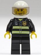 cty0062G Brandweerman- Standaard herlm, kinlijn, witte helm gebruikt loc
