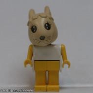 fab3cG Bunny 3 met beige head, wit lichaam ZONDER strik, gele armen/benen gebruikt *2R0000
