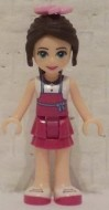 frnd142 Friends- Naomi magenta skirt, wit topje NIEUW *2M0000