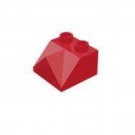 HU007 DAKPAN 2x2 dubbele hoek binnen DUPLO compatible rood NIEUW *