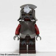 lor022 LOR: Uruk-hai- handbedrukte helm NIEUW loc