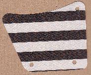 sailbb01-1G Zeil 9x11 met gaten en zwarte strepen wit gebruikt *5D000