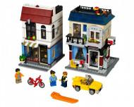 Set 31026-GB Bike shop&Café gebruikt deels gebouwd *B036