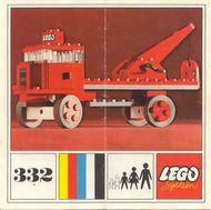 Set 332 BOUWBESCHRIJVING Kraanwagen  gebruikt loc