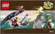 Set 5921 BOUWBESCHRIJVING- Dino Island Adventures gebruikt loc