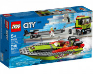 Set 60254-GB Race Boat Transporter gebruikt deels gebouwd *B036