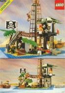 Set 6270 BOUWBESCHRIJVING- Forbidden Island PUNCHHOLES EN PLAKBAND gebruikt loc