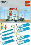 Set 7823 BOUWBESCHRIJVING- Container Crane Depot gebruikt loc