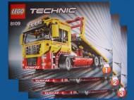 Set 8109 BOUWBESCHRIJVING- Flatbed Truck Technic gebruikt loc