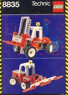 Set 8835 BOUWBESCHRIJVING- Forklift  gebruikt loc