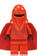 sw0040bG Star Wars:Imperial Guard met zwarte handen en rode cape gebruikt *0M0000