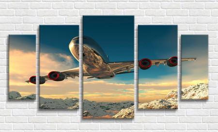 Multicanvas, Avion în munți