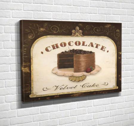 Poster, Tortul de ciocolată pe masa