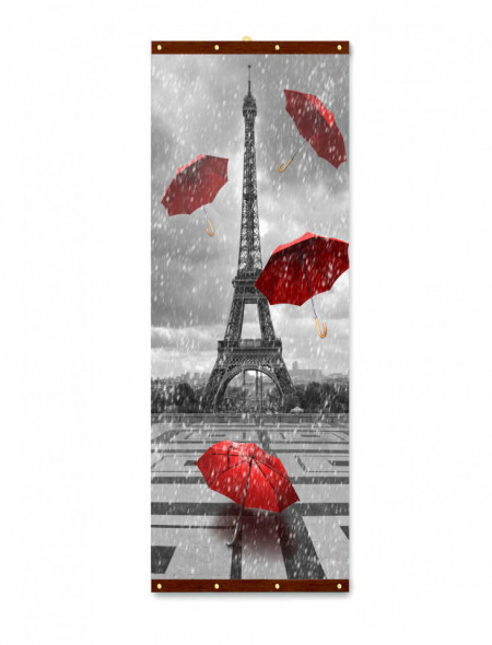 Roll-up, Turnul Eiffel într-o zi ploioasă