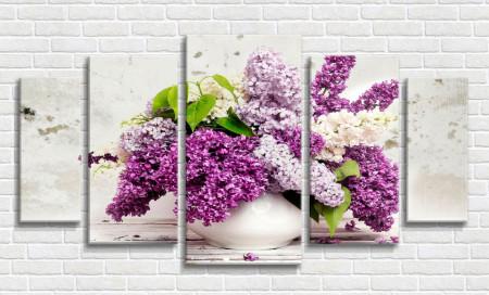 Tablou modular, Vază cu liliac