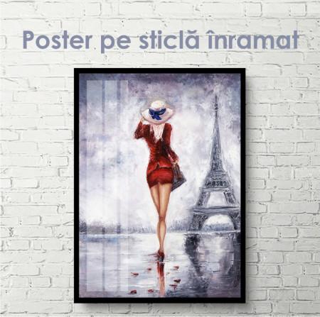 Poster, Fata la Paris