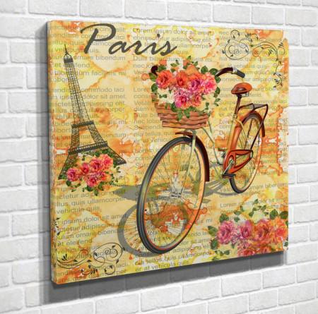 Poster, O bicicletă aurie în Provence