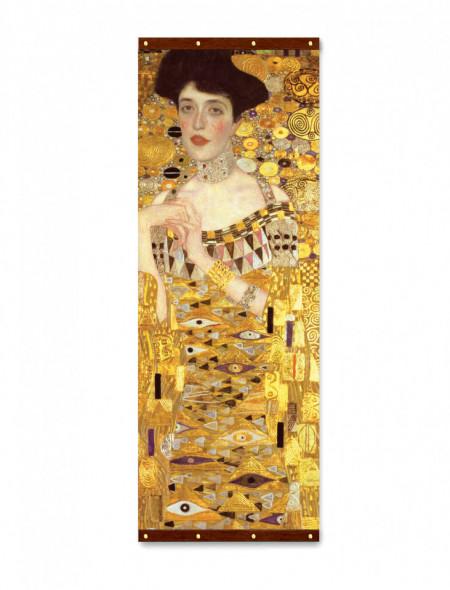 Roll-up, Fată pe fundal auriu