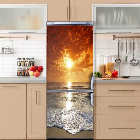 Stickere 3D pentru uși, apus de soare , 1 foaie de 80 x 200 cm