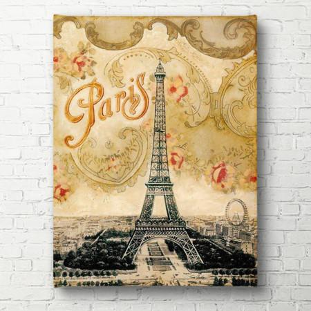 Poster, Turnul Eiffel pe un fundal galben