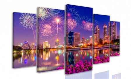 Tablou modular, Artificii pe cerul nopții