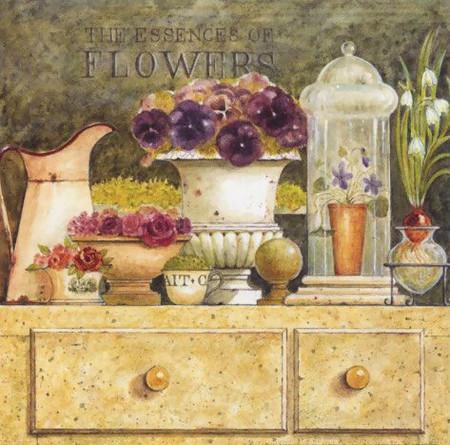 Tablouri Canvas, Natura moartă frumoasă cu flori purpurii intr-o vază