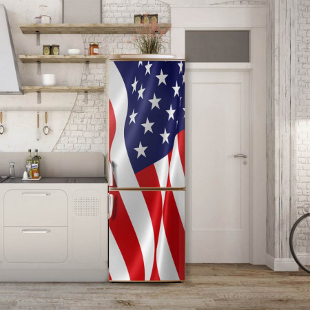 Stickere 3D pentru uși, Steagul USA, 1 foaie de 80 x 200 cm