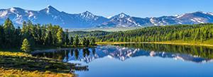 Multicanvas, Peisajul montan lângă lac
