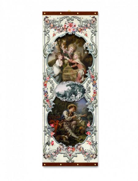 Roll-up, Pictură baroc cu îngeri