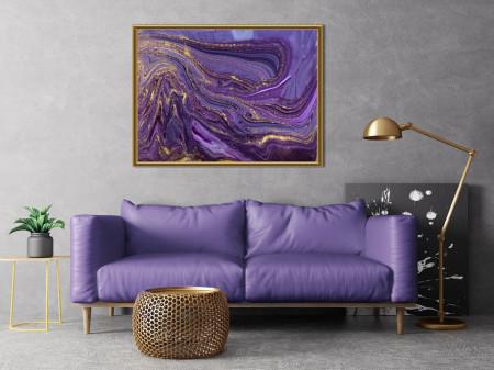 Tablou, Arta fluidă purpurie 3