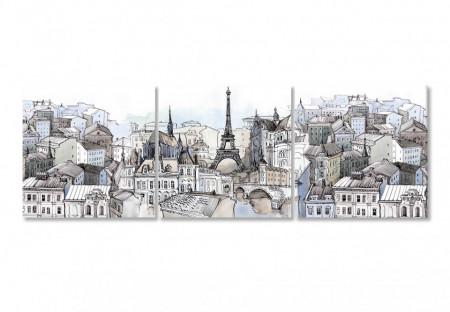 Multicanvas, Parisul în culori reci