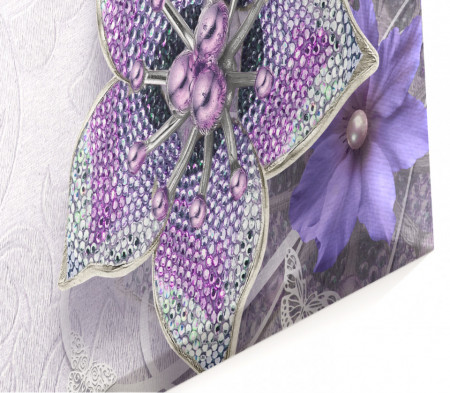 Tablou modular, Flori violet