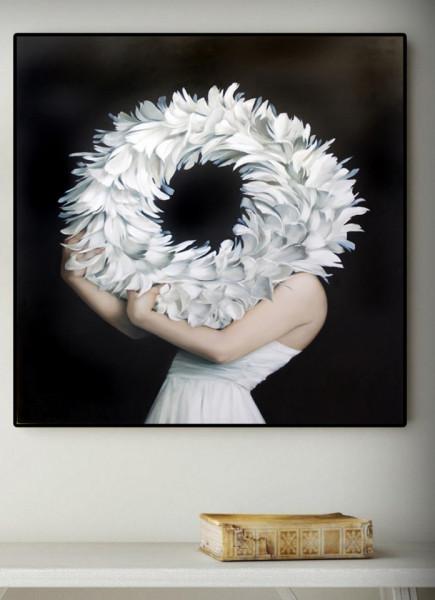 Tablou, Coroniță din flori