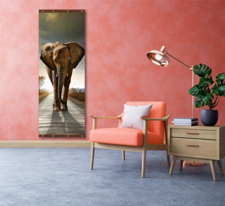 Roll-up, Elefantul furios