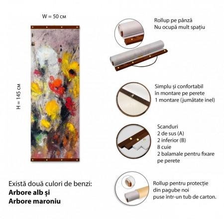 Roll-up, Flori multicolore