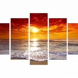 Multicanvas, Apusul auriu pe plajă