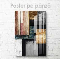 Poster, Abstracție din texturi diferite