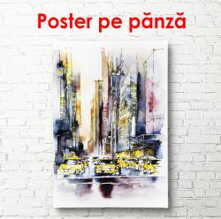 Poster, Acuarelă cu un oraș