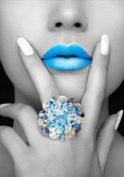 Poster, Buze albastre
