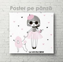 Poster, Fetița cu pudel