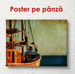 Poster, Fotografia retro cu o navă pe mare
