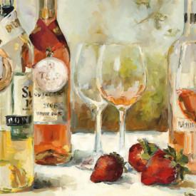 Poster, Masa cu sticle de vin