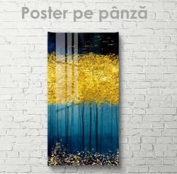 Poster, Peisaj delicat cu detalii aurii