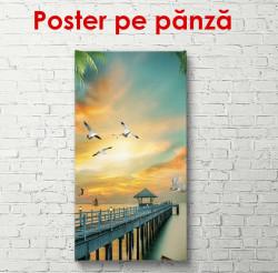 Poster, Ponton scăldat de lumina soarelui