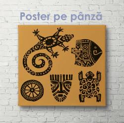 Poster, Printuri de ]n form[ de reptilii