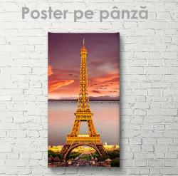 Poster, Turnul Eiffet la apus