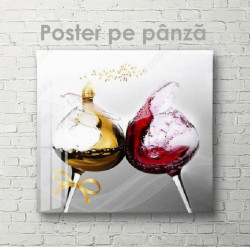 Poster, Vin în pahare
