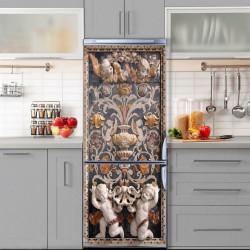 Stickere 3D pentru uși, Îngeri pe fundal albastru, 1 foaie de 80 x 200 cm